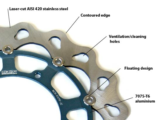 WRP Brake Disc components