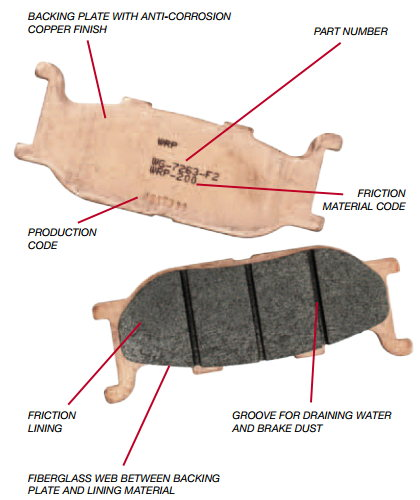Construction of a WRP Brake Pad
