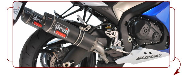 Devil Sprinter Carbon Exhaust System GSXR