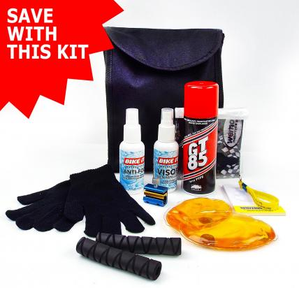 A Motorcycle Winter Rider Accessory Kit