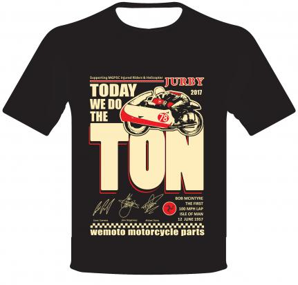 T Shirt Jurby Help the Isle of Man TT Helicopter Fund Size X-Large (Chest 46-48 inch)