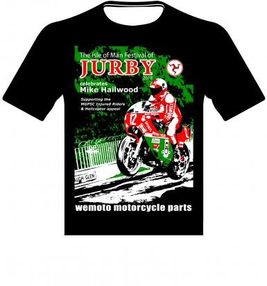 T-Shirt Jurby 2018 Help the Isle of Man TT Helicopter Fund - Small (Chest 34-36 inch)
