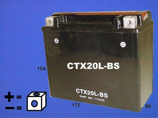 Buell X1 1200 Lightning 99 Batería de calidad equivalente