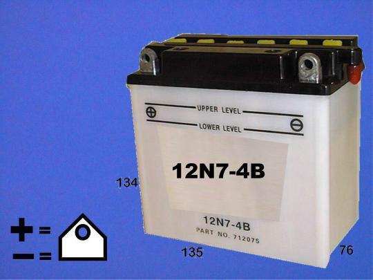BSA A65 FB Firebird 71 Batterie Copie