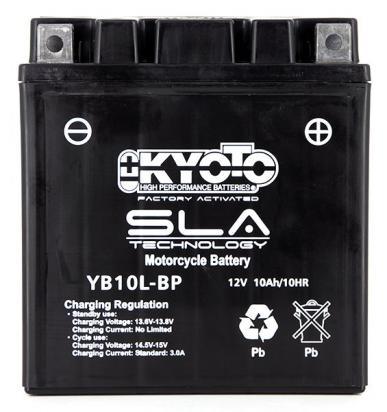Derbi GP1 125 08 Baterie Kyoto SLA AGM (uzavřená, bezúdržbová)