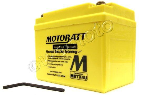 Derbi GP1 50 04 Baterie Motobatt (uzavřená, bezúdržbová) - vysoký startovací výkon