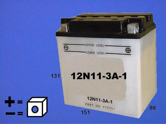 Suzuki GT 550 A/B 76-77 Battery Pattern