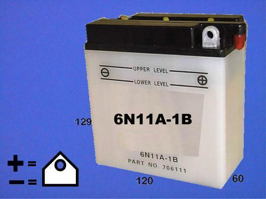 BSA A65 H Hornet 65-66 Batterie Copie