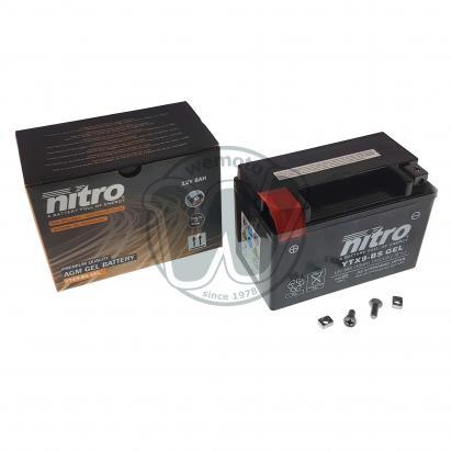 Derbi DXR 200 Quad (Front Disc Model) 05 Baterie Nitro AMG gelová (uzavřená, bezúdržbová)