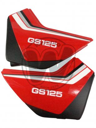 Suzuki GS 125 UY Kick Start 00 Side Panels Red