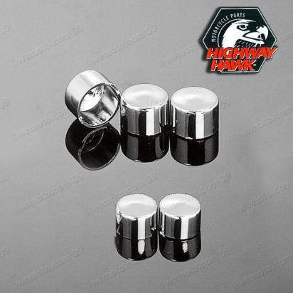Covers Chrome Finish for M8 Allen Bolts 5pcs