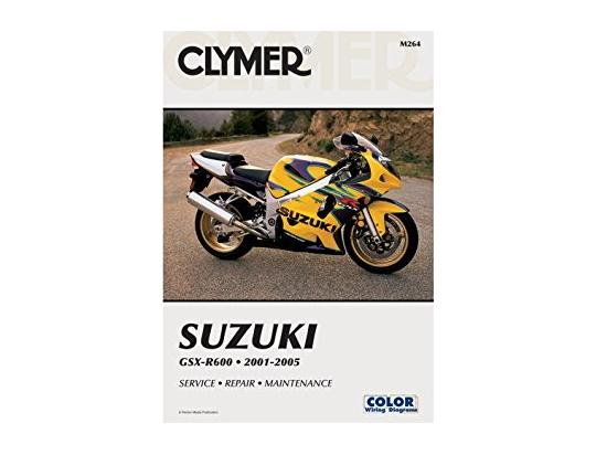 Suzuki GSXR 600 K1 01 Manual Clymer