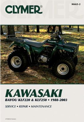 Kawasaki KLF 250 A1/A2/A3/A6F/A7F/A8F (Bayou 250) 03-08 Manuale Clymer (In Inglese)