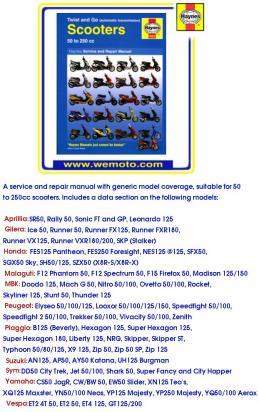 Honda SFX 50 S/T/V/W/X 95-99 Manual Haynes