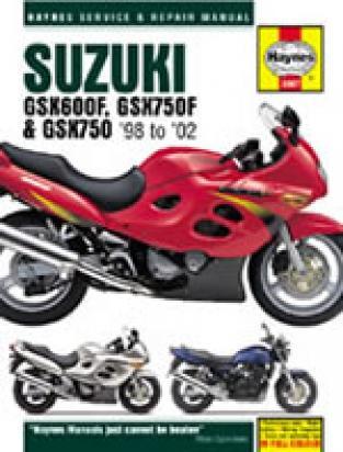 Suzuki GSX 600 F W/X/Y 98-00 Manual Haynes