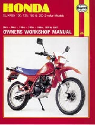 Honda XL 125 SZ/SA/SB/SC 79-82 Manual Haynes