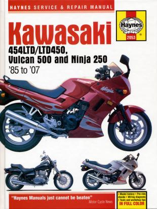 Kawasaki EN 500 A5-A7 94-96 Manual Haynes