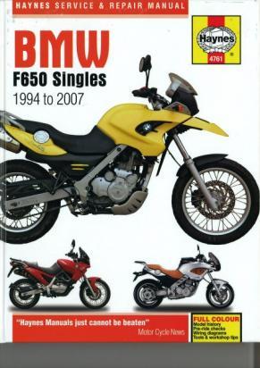 Haynes Manual - BMW F650 singles 1994 to 2007