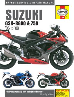 Suzuki GSXR 600 K7 07 Manual Haynes