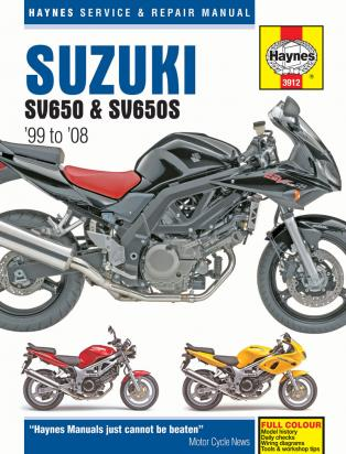 Suzuki SV 650 SAK8 08 Manual Haynes
