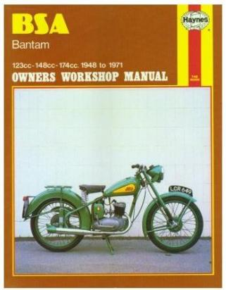 BSA Bantam D1 125 Plunger frame 53-56 Manuel Haynes - Attention!  En Anglais