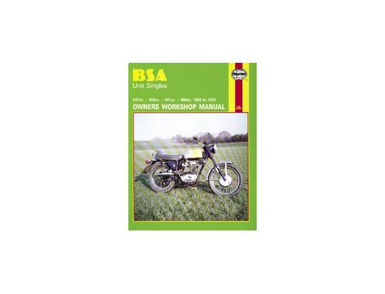 BSA B40 WD 66-72 Manuel Haynes - Attention!  En Anglais
