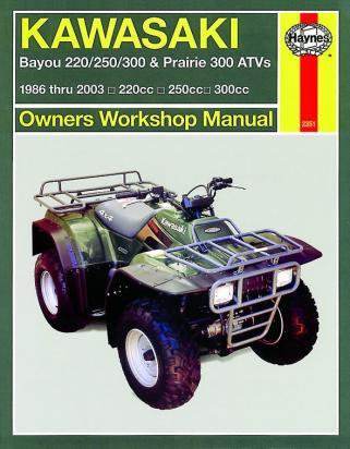 Kawasaki KLF 300 B1-B11 Bayou 88-99 Manual Haynes