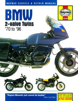 BMW R 60 TIC   (Double disc model) 78-82 Manual Haynes