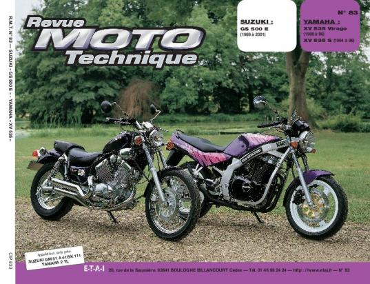 yamaha xv 535 virago low bars 88 revue moto technique francais pi ces chez wemoto le. Black Bedroom Furniture Sets. Home Design Ideas