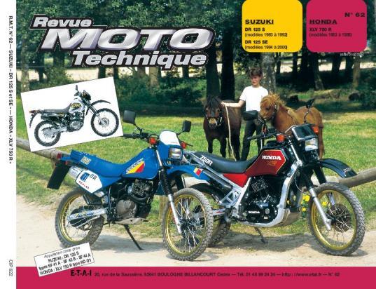 Honda XLV 750 RF (RD01) 85-86 Revue Moto Technique - Francais