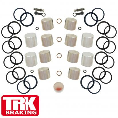 Suzuki TL 1000 RW/RX 98-99 Brake Piston and Seal Kit Stainless Steel Front (Twin) - by TRK