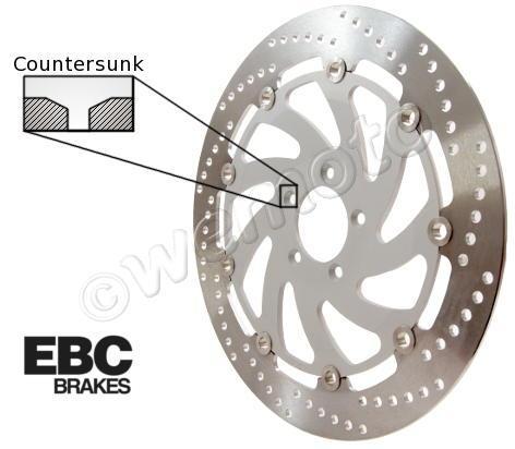 Buell X1 1200 Lightning 99 Disco Delantero EBC - Lateral Derecho