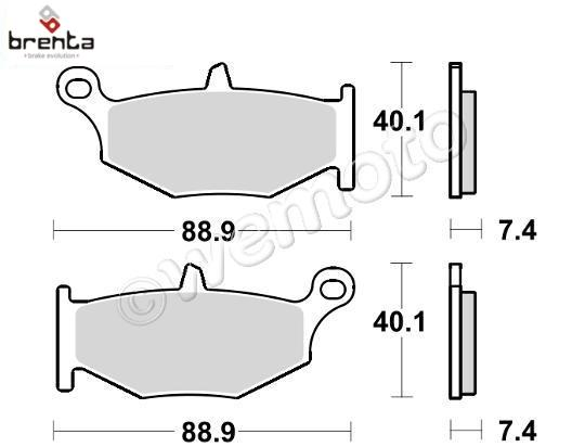 Suzuki DL 1000 AL6 V-Strom ABS Adventure 16 Brake Pads Rear Brenta Sintered (HH Type)