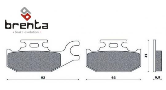 CAN AM Outlander 400 EFI 12 Brake Pads Front Left Brenta Standard (GG Type)