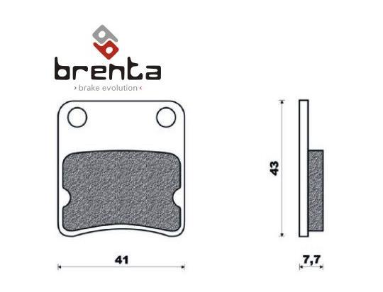 Daelim Bonita 50 11 Brzdové destičky Brenta standard (GG) - přední