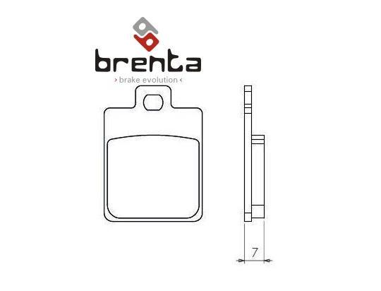 Piaggio Vespa S 125 ie 11-13 Pastiglie Freno Brenta Sinterizzate (Tipo HH)