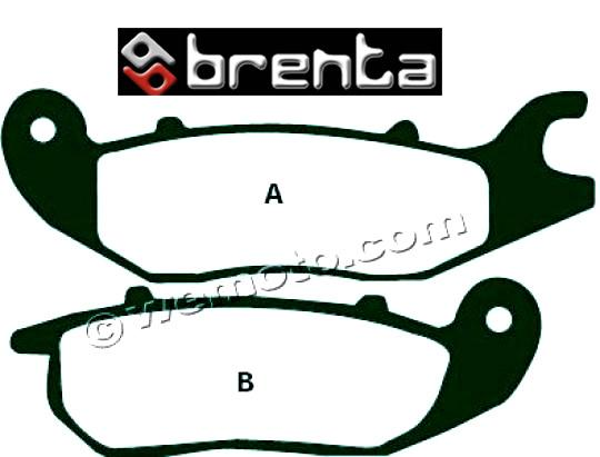 Rieju NKD 125 08-09 Pastillas de Freno Delanteras Brenta Estándar (Tipo GG)