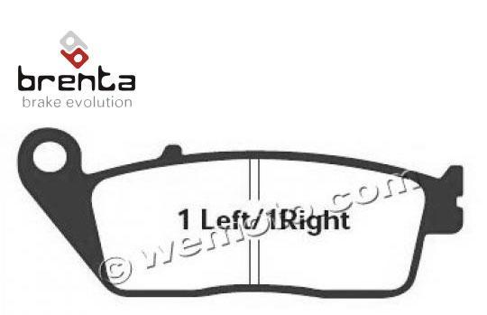 Daelim Roadwin 125 04-09 Pads Front Brenta Standard (GG Type)