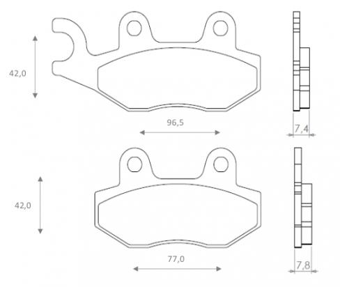 Suzuki EN 125 (Spoke Wheels) 04-06 Brake Pads Front Brenta Standard (GG Type)