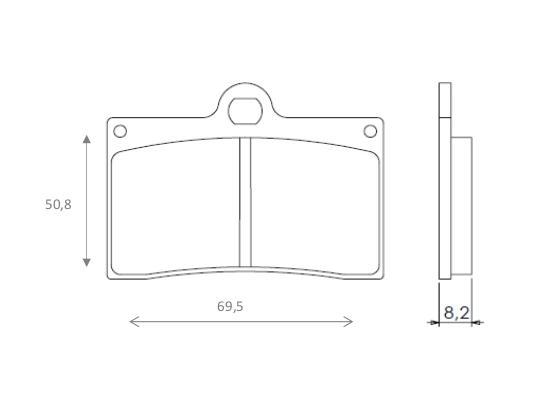 VOR SM-E 530 (530cc) 03-04 Brake Pads Front Brenta Sintered (HH Type)
