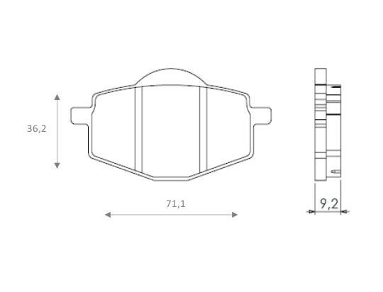 Yamaha DT 125 R 88 Brzdové destičky Brenta sintrované (HH) - přední