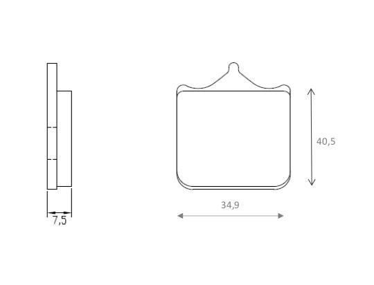 SWM SM 500 R 17 Brzdové destičky Brenta sintrované (HH) - přední
