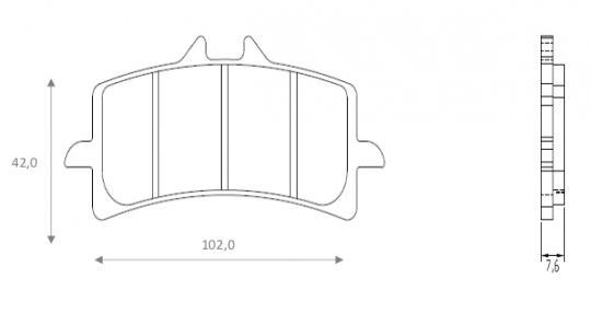 MV (Agusta) Brutale 1090 RR 12 Brzdové destičky Brenta sintrované (HH) - přední