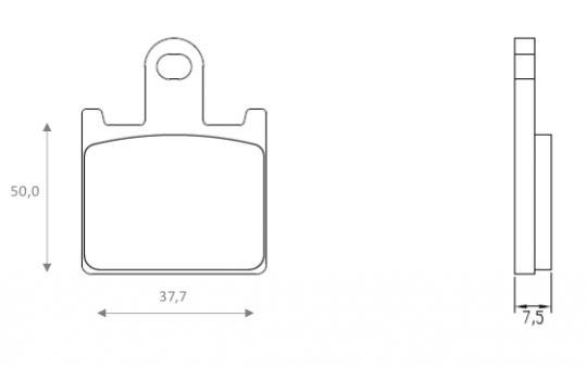 Kawasaki ZZR 1400 ABS (ZX 1400 DBF) 11 Brake Pads Front Brenta Sintered (HH Type)