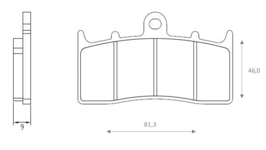 BMW R 1200 R (K27) (41mm Forks) 08-09 Brzdové destičky Brenta sintrované (HH) - přední
