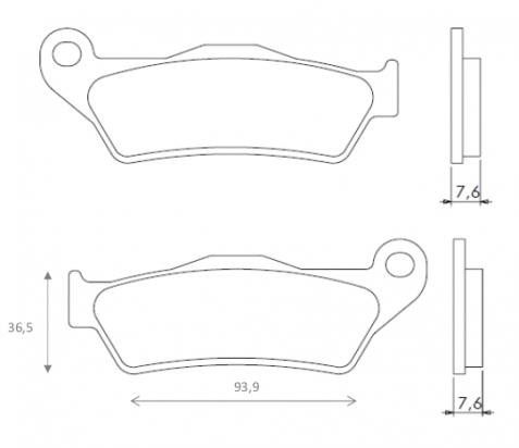 VOR EN 530 Enduro (530cc) 03-04 Brake Pads Front Brenta Off Road