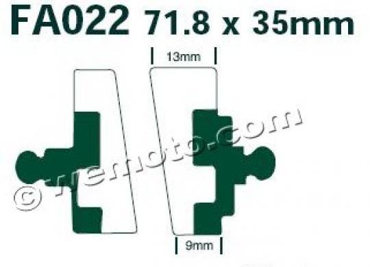 BMW R 100/7   (Single disc) 76-77 Pads Front EBC Standard (GG Type)