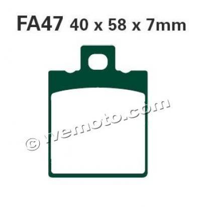 Alfer 125 MC 88 Pastiglie Freni Posteriori EBC Standard (Tipo GG)