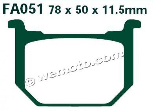 Suzuki GN 400 TT 80 Brake Pads Front EBC Standard (GG Type)