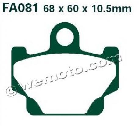 Yamaha RX 115 (5FS3) 99 Pastiglie Freni Anteriori EBC Standard (Tipo GG)